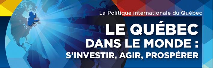 Réaction de Connexion internationale de Montréal au dépôt  de la nouvelle Politique internationale du Québec