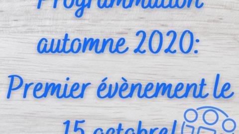 Inauguration activités d'automne 2020!